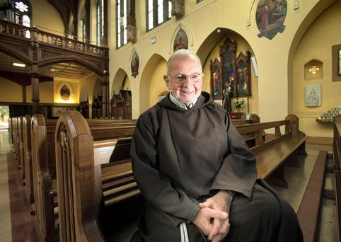 Brother Kevin Crowley in the Capuchin Friary Church of St. Mary of the Angels, Church Street. Photo: Tony Gavin