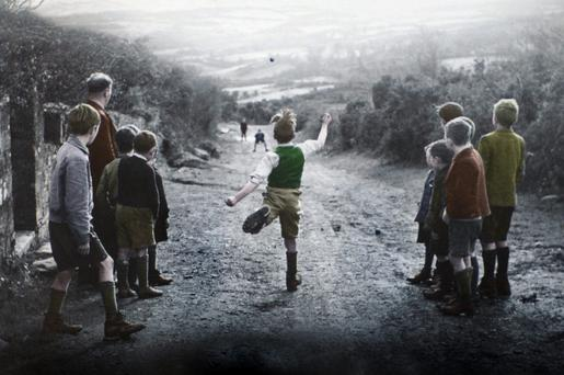 Road bowling in Ireland in 1955