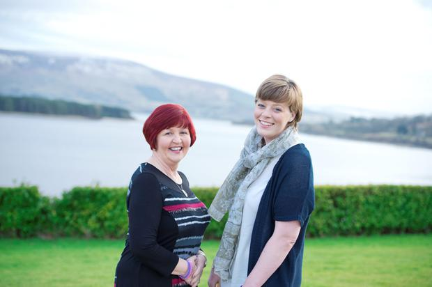 Mother and daughter Donna and Lyndsey Connolly, who have both battled cancer and got the all-clear. Photo: El Keegan