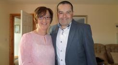 Alan Kelly and wife