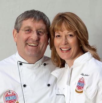 Chef Caldesi and wife Katie