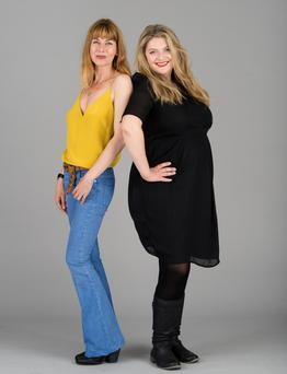 Polly Vernon, size 6-8 and Bryony Gordon, size 16-18