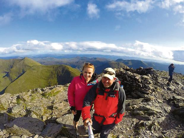 Amy and Andrew climb Carrauntoohil last August