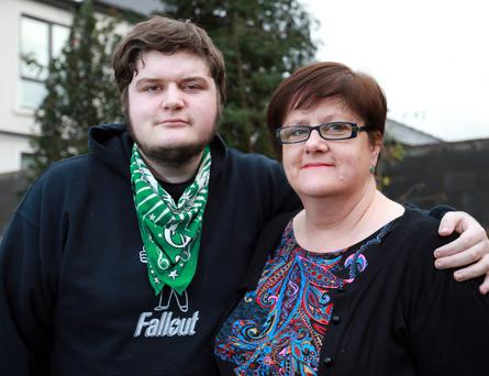 Breathing space: Jeannine Webster and her son, James at their home in Donabate. Photo: Frank McGrath.