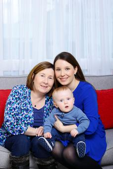 Nora and Laura Reid, with Laura's son Thomas. Photo: Marc O'Sullivan