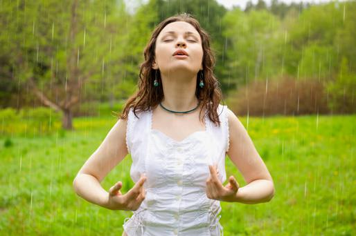 Breathe - you can lower your blood pressure by breath control.