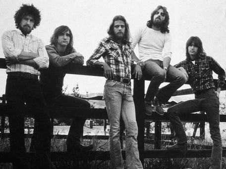 Americana: The Eagles in 1976, left to right, Don Henley, Joe Walsh, Don Felder, Frey and Randy Meisner. 'We were like a powder keg,' said Frey Photo: Getty