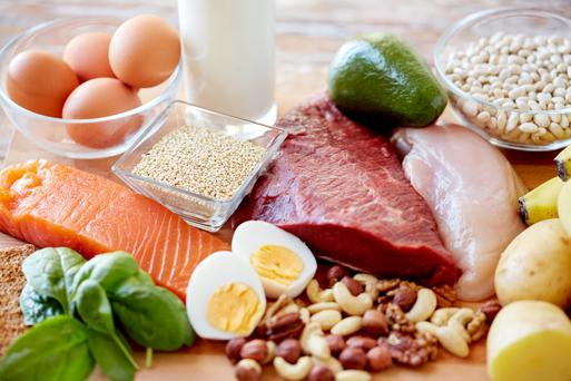 Red meat, eggs and nuts are some of the foods high in iron