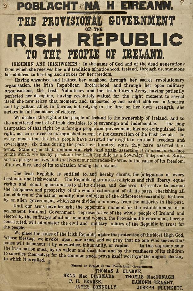 'There is no doubt that the Easter Rising was the most significant event in the subsequent, painful birth of the Republic'