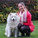 Susanne Byrne, pictured with her Samoyed dog Sasha, is a First Responder in Co Wicklow. Photo: Siobhan English