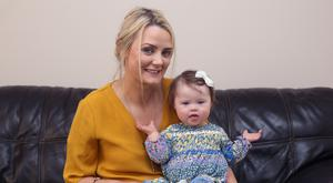 Lorraine O'Brien with her daughter Lilah. Photo: Damien Eagers.
