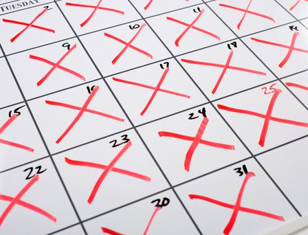 Crosses on a calendar - it works for Jerry Seinfeld.