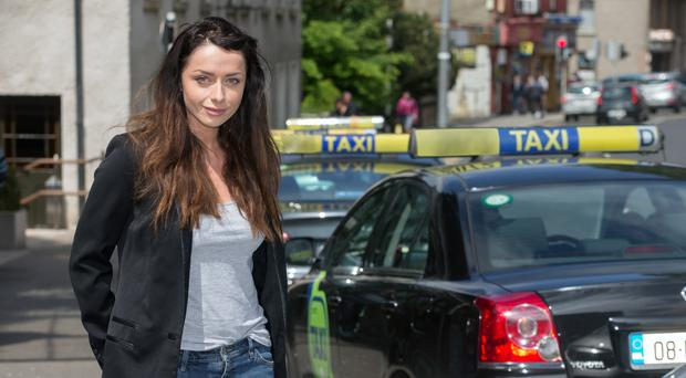 Hitching a ride: Katie Byrne has used Uber in other countries. Photo: Tony Gavin.