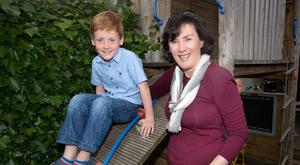 Myriam Doherty and her son, Cormac, who suffers with food allergies. Photo: Tony Gavin