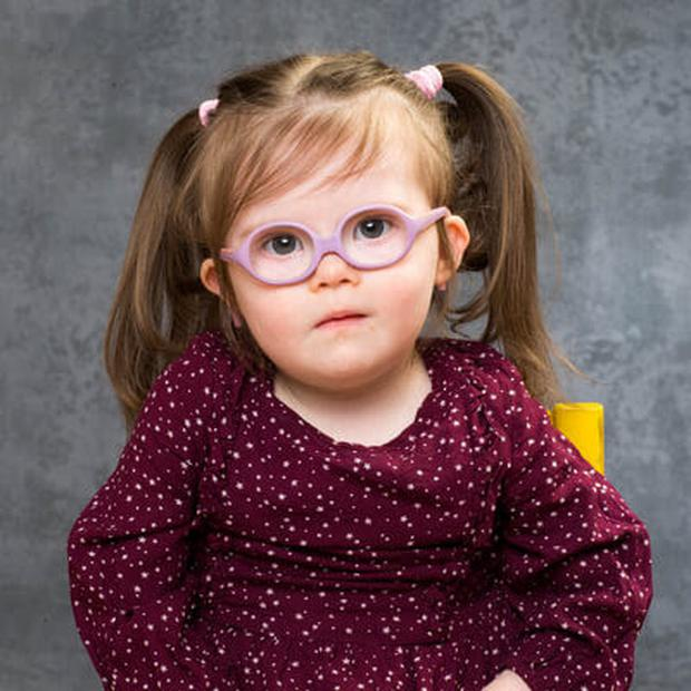 Ellie is one of the 21 faces in the Down Syndrome awareness campaign.