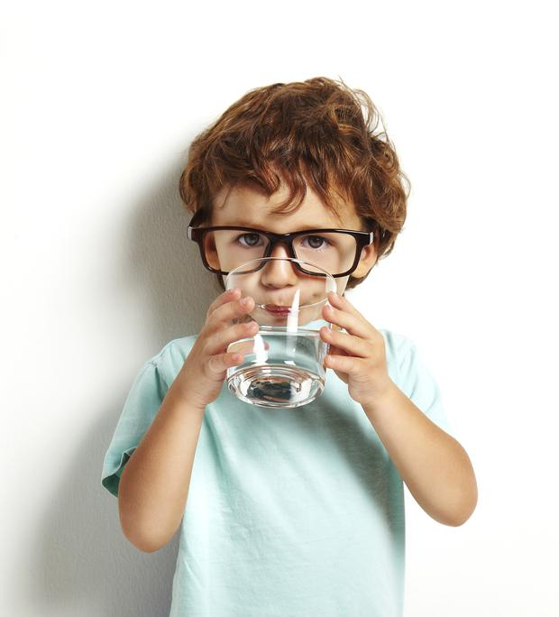 You and your family should drink water throughout the day