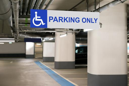 Disabled parking spaces are often taken illegally by motorists