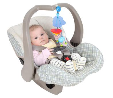 Oxygen levels can dip in babies left in car seats for prolonged periods