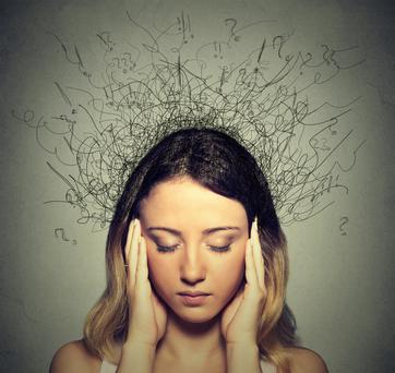 'I had already filled my emotional bucket to the brim, there was nothing left to say. I scribbled that much of my suffering was caused by overthinking, that I needed to find a new way of extinguishing a thought, or stopping the chatter in my head' Stock Image