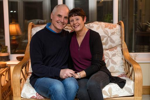 Michael and Caroline Gainey met when they lived on the same estate in Newbridge. Photo: Arthur Carron
