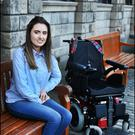 Emily Felix, from Kilkenny who is living with a rare condition known as Friedreich's Ataxia. Photo: Steve Humphreys