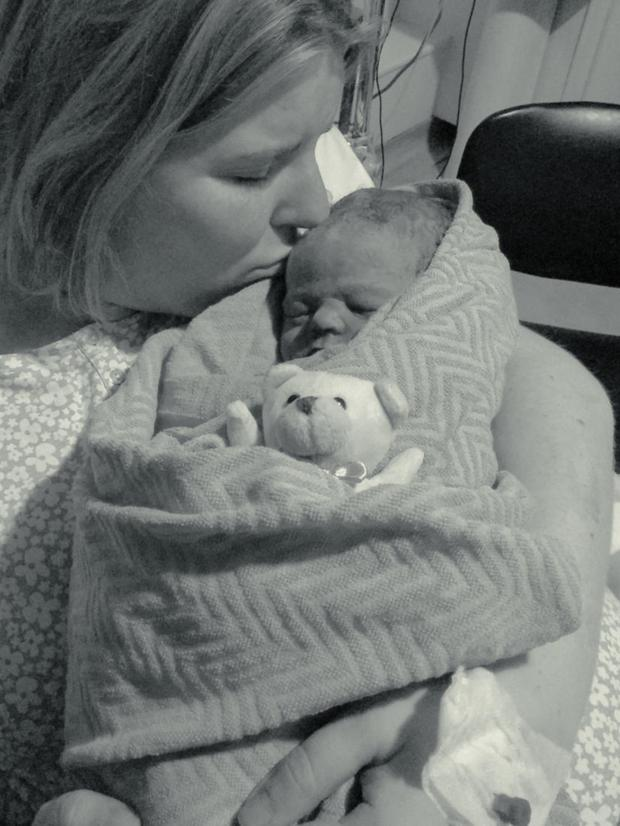 Anne Marie Gillooley with her beloved son Max who passed away shortly before his birth on January 12, 2015