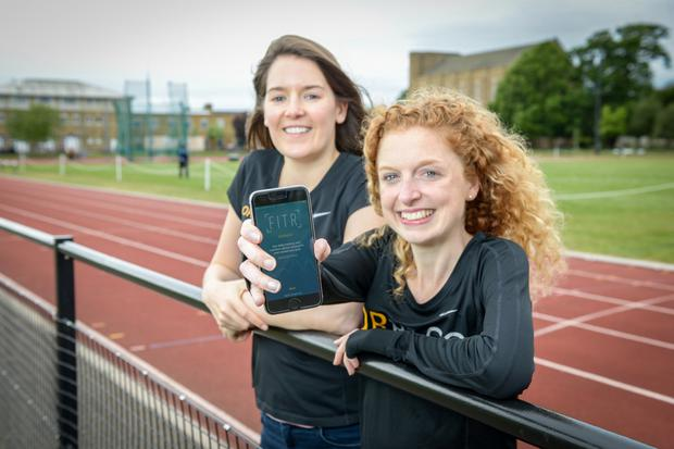 Grainne Conefreypictured with Georgie Bruinvels. Together they created the app FitrWoman