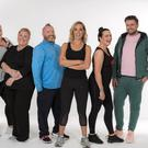 Leading the way: Kayleigh, Mary, Gary, Operation Transformation presenter Kathryn Thomas, Triona and James