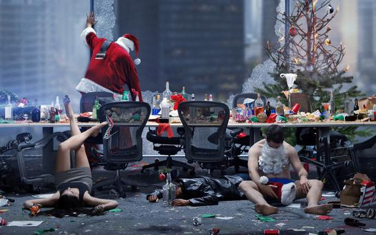 Working the night shift: A scene from Office Christmas Party PICTURE: PARAMOUNT PICTURES