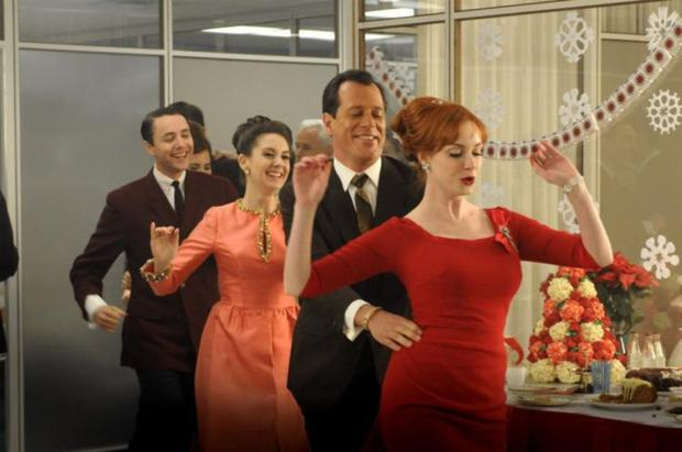 Flash dance: Like in Mad Men, it may not be so bad if everyone is jolly