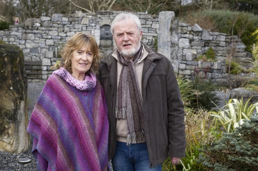 Martina and Denis Goggins in the Circle of Life national organ donor commemorative garden in Salthill, Galway. Photo: Andrew Downes