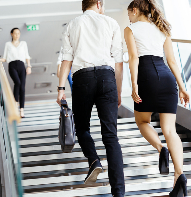 Step it up: Forget lifts and take the stairs at work