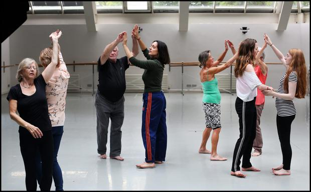 The integrated workshop at the Dance Theatre of Ireland in Dun Laoghaire in full swing. Photo: Steve Humphreys