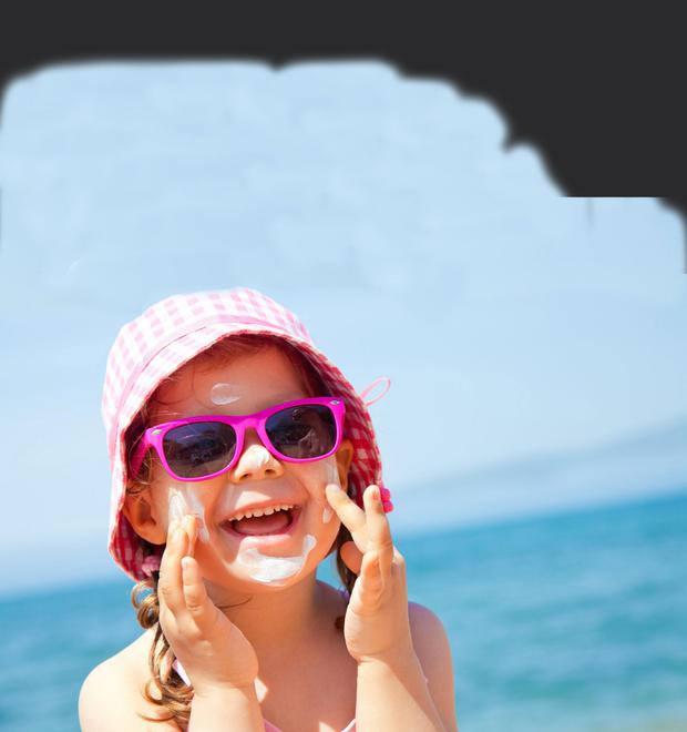 A hat and sunscreen help to keep you safe in the summer sun