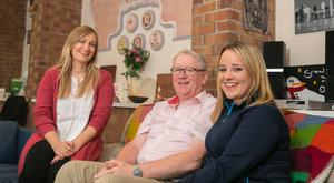 Wexford Clubhouse (for patients with Acquired Brain Injuries) at Drinagh, Wexford. Pictured are Sarah Kavanagh, local services manager Tom Hayden and Róisín Fortune. Picture: Patrick Browne