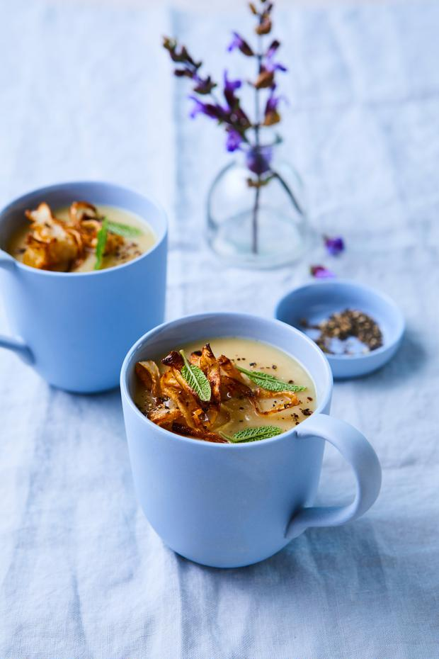 Parsnip, Sage and White Bean Soup