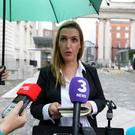 Influential: Vicky Phelan speaks to the media after meeting the Taoiseach at Government Buidlings last August. Photo by Eamonn Farrell