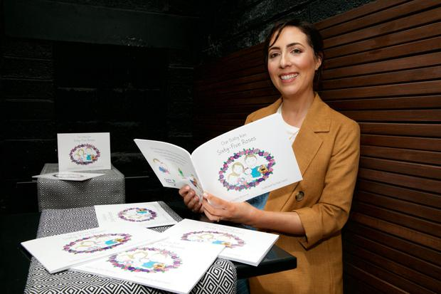 Eilís Moroney, whose daughter has CF, with her new book. Pic: Lensmen Photography and Video