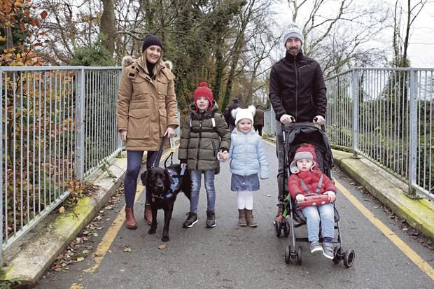 Trish and Eoin with children Conor, Aoibhinn and Ben... and, of course, Quelda