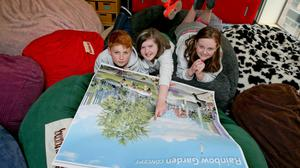 Ashleigh Kiernan (centre) from Lucan with fellow members of the Youth Advisory Committee (YAC) to the new hospital project, Dara Donnachie from Cork and Grace Mc Kenna from Rathoath, Co Meath. Photo: Maxwell Photography