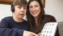 Breakthrough: Caoimh Connolly (15) and his mother Adrienne Murphy at their home in Rialto, Dublin. Picture by Colin O'Riordan