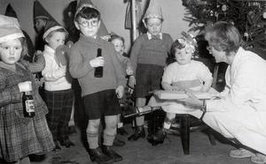 The 1958 Christmas party takes place in the Cork Polio Clinic in Cork's City Hall