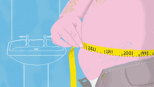Some 26pc of Irish adults have a body mass index (BMI) of 30 or more — the definition of obesity. Illustration by Shane Mc Intyre
