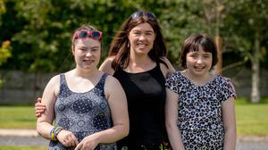 Liz O' Neill is a family carer for her two daughters, Emma and Katie. Photo: Dylan Vaughan