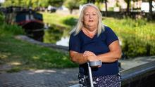 Mary Carroll who is waiting for a knee replacement.  Pic: Mark Condren