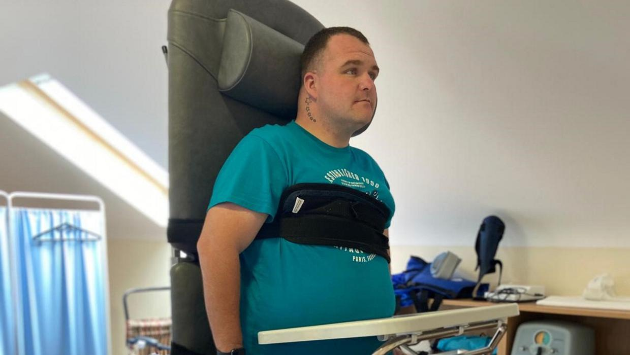 'The spinal injury staff helped me see that my life was just beginning'