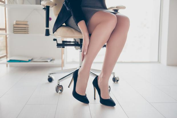 You can do simple exercises at your desk to ease the swelling