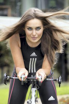Roz Purcell in training