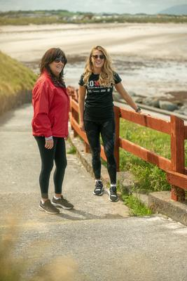 Grainne Rowe with her daughter Sarah Rowe. Photo: Jar Finnegan
