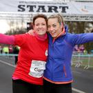 Winning formula: Dr Ciara Kelly and Operation Transformation host Kathryn Thomas after last year's 5k run in the Phoenix Park. Photo: Gerry Mooney.